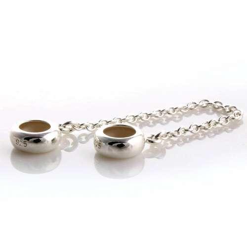 Мода 925 цепь безопасности клипы шарм бусины DIY пробка сеть бусины , пригодный для пандора браслет цепи