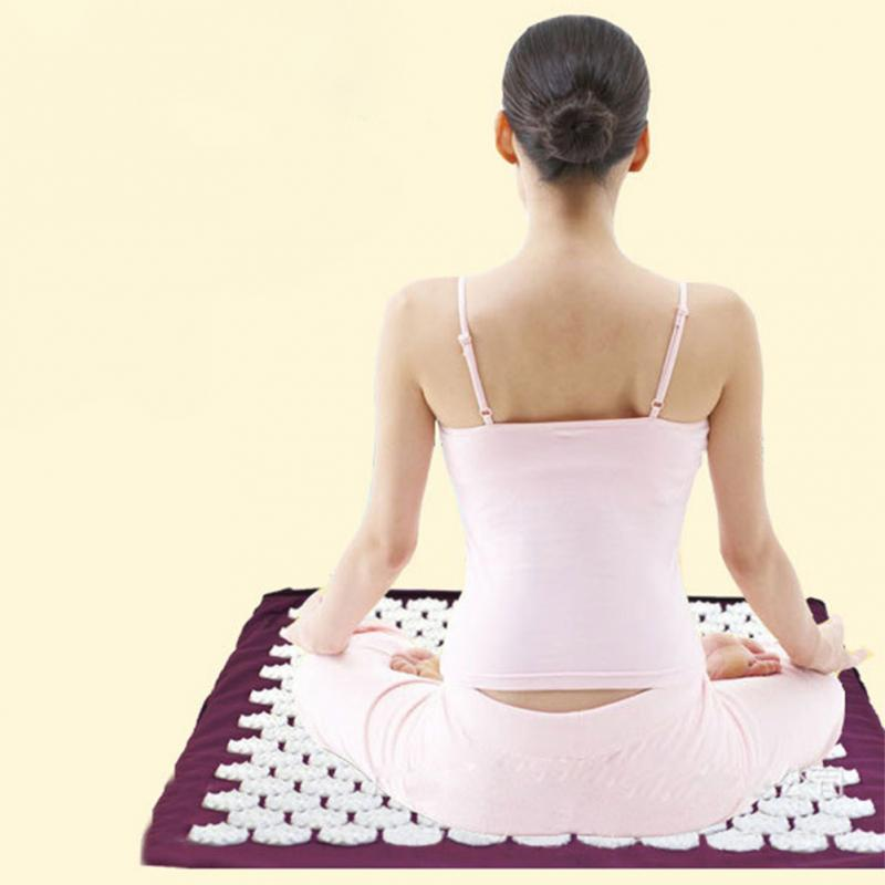 New Back Body Massage Relieve Stress Tension Pain Exercise Fitness Lose Weight Non-slip Yoga Mat Pad 67x42cm(China (Mainland))