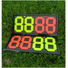 DHL ship Portable Soccer Substitution board referee equipment plastic Sports set 2 sides Football change players(China (Mainland))