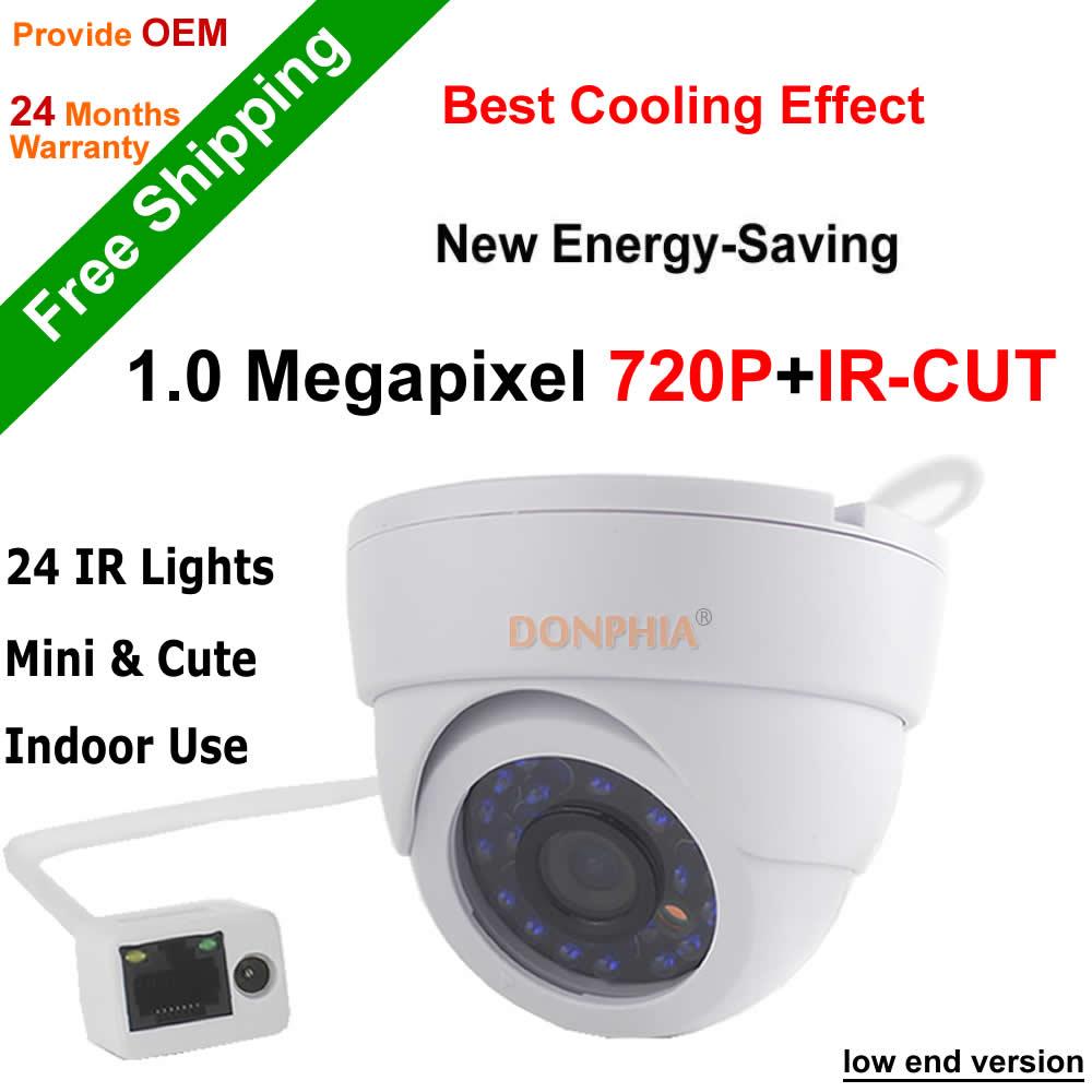 2016 SALE! H.264 Onvif P2P 1.0MP IP Camera 720P IR night vision motion detect Mini Indoor Dome Camera IRcut filter CCTV Camera(China (Mainland))
