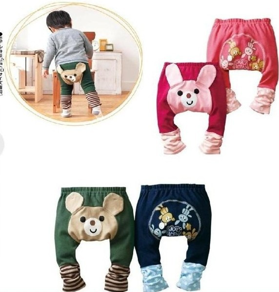 cartoon Kids infant Baby Cotton Children's cartoon pp pants Breathable absorbent 95% cotton 4 colors(China (Mainland))