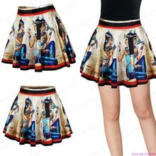 New Exercise Tutu Pettiskirt Egyptian Mural Short Tennis Skirt Slim Fit Women Sports Miniskirt Pleated High Waist Summer