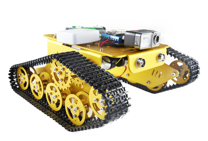 Wireless WiFi RC Tank T300 From NodeMCU Development Kit with L293D Motor Shield With Camera(China (Mainland))