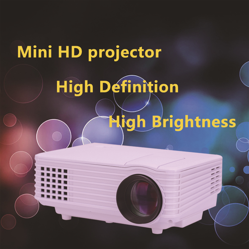 800*480 Portable Mini HD LED Projector 2000 Lumens Support RED/BLUE 3D Moive Multimedia Home Projector Factory Direct Sale(China (Mainland))