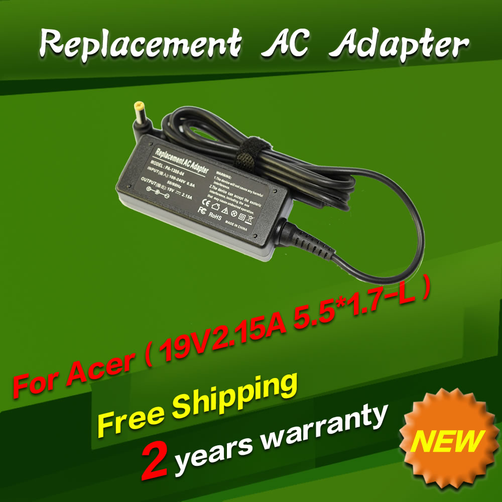 Replacement For Acer 19V 2.15A 5.5*1.7MM 40W Universal Notebook Laptop AC Charger Power Adaptor free shipping(China (Mainland))