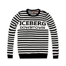 2015 new arrival mens males iceberg stripe cotton knitted sweaters jumpers 2colors M-XXXL(China (Mainland))