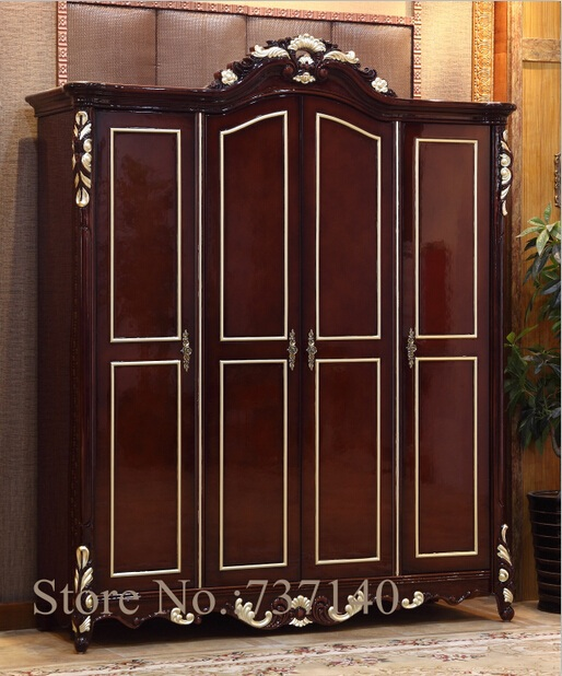 Wardrobe bedroom furniture solid wood wooden