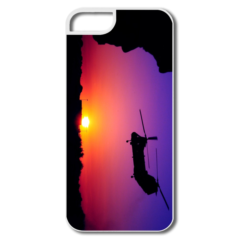 Cool Custom Case For Iphone 5s CH 46 Sea Knight Cargo Helicopter Design Your Own 5 5s Cases Only 1 Piece(China (Mainland))