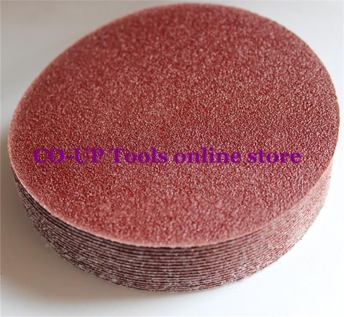 25pcs 6 150mm Peel&amp;Stick Sandpaper Sanding paper Sand Paper for Sander Grits 60 80 120 180 240<br><br>Aliexpress