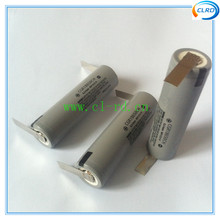 ideal 18650 battery cells for electric drill 2250mah with pure nickel solder lug