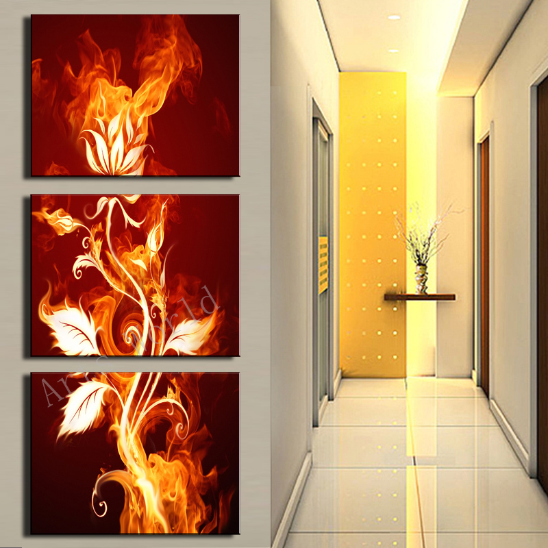 3 Pcs Wall Art Abstract Flower HD Picture Modern Home Decoration ...