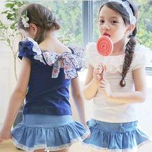 Buy 2016 New Baby Girl Clothing Set Cotton 2 Pcs Short Sleeve Leggings Skirt Children Girl Clothing Sets Kids Summer Sets for $11.35 in AliExpress store