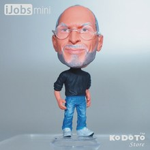 KODOTO Baby Toys Action Figure PVC Doll World Famous People Apple Co-founder Steve P.(aul) Jobs Model Decoration Best Gift(China (Mainland))