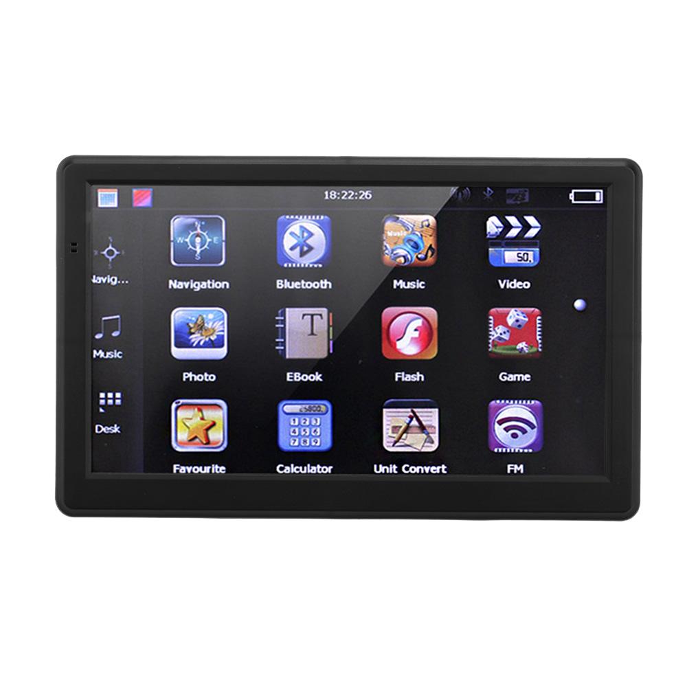 "7"" HD Bluetooth Touch Screen Portable Car GPS Navigation Europe English/French/Italian/Portuguese/Russian Language Car Navigator(China (Mainland))"
