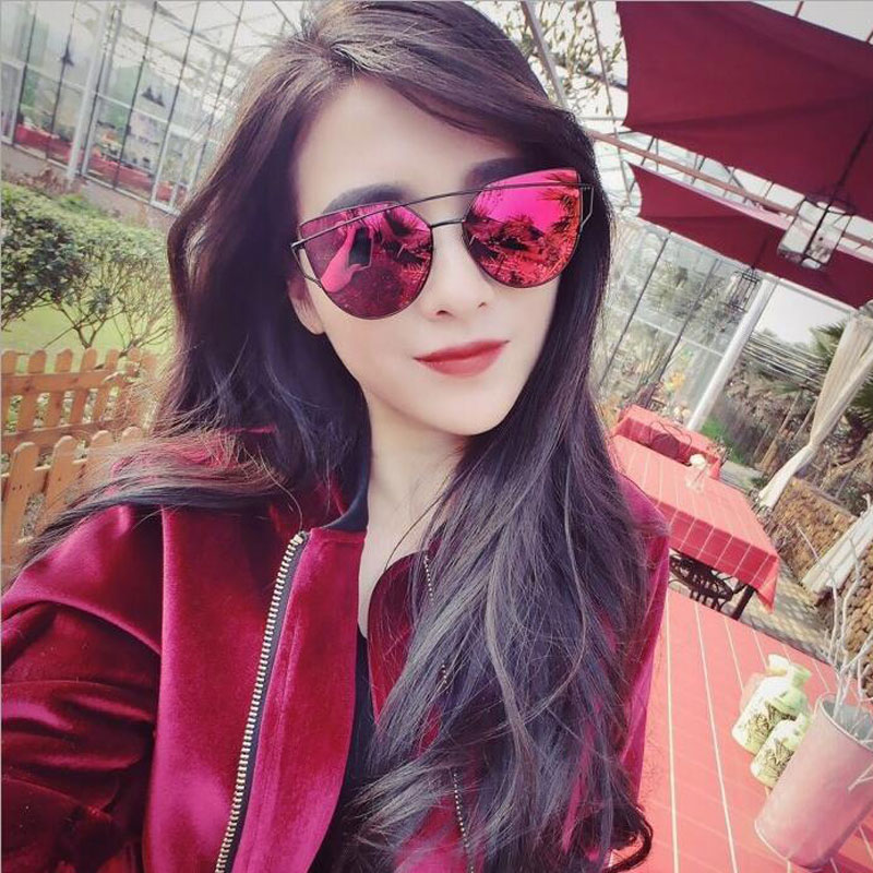Flat Top Cat Eye Sunglasses  0001 picture more detailed picture about ralferty vintage cat