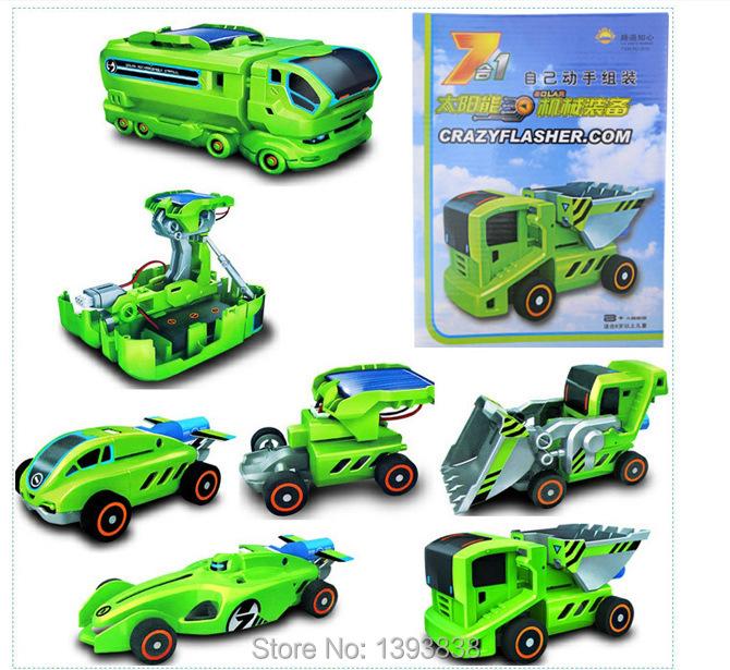 Детский набор для моделирования Solar Power toy 7 1 DIY & Solar Power kit 80pcs poly solar cell 156x39mm polycrystalline kits high quality for diy 80w solar panel solar generators