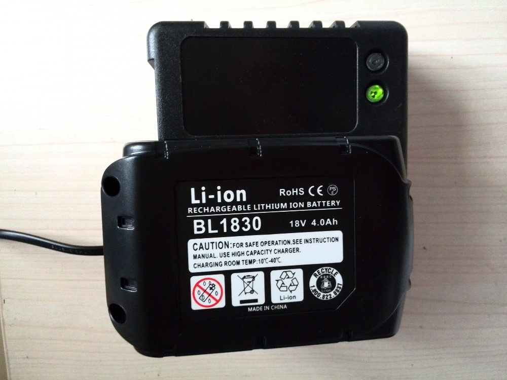 BL1830 Electrical Drill Li-ion Battery Charger for Makita BL1830 Power tool battery only for 18V Lithuim-ion Battery