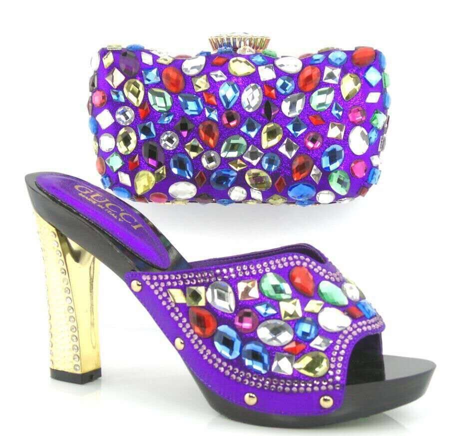 Italy Shoe And Bag Set Upper Material Cotton Fabric African Shoe With Bags black Colors Italian Shoe With Matching Bag For Party