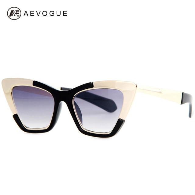Aevogue новые кошачий глаз бренд солнцезащитных очков женщин горячая распродажа сплава рамка со стрелками украшения солнцезащитные очки óculos UV400 AE0223