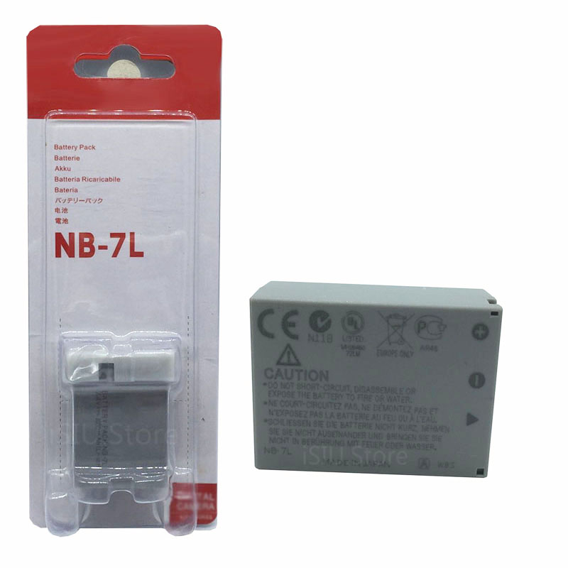 Battery Pack NB-7L NB7L For Canon Powershot G10 G11 G12 SX30 IS 120 IS For Canon Powershot SX30 IS, G12, SX30IS Cannon CB-2LZ(China (Mainland))