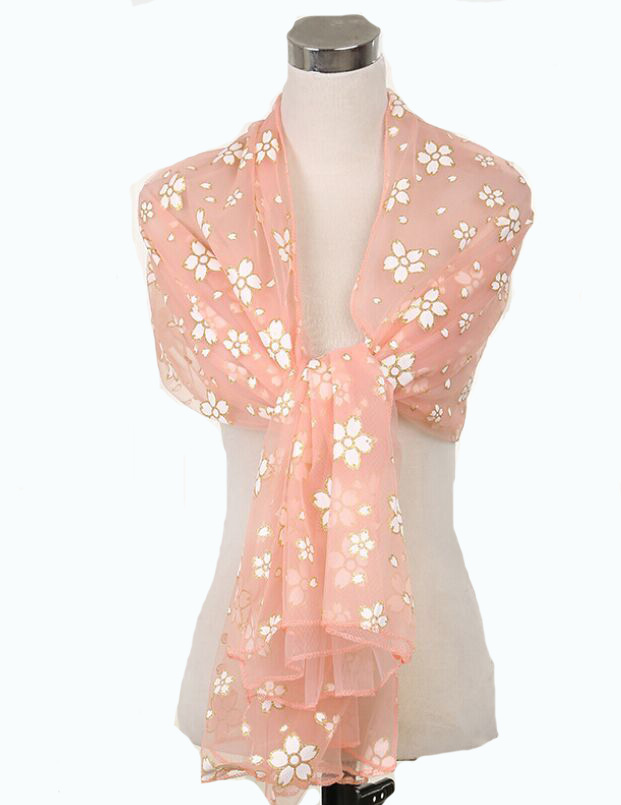2015 New Chiffon Lace Hollow Soft Flowers Print Scarves Shawl Cape Neck Wrap Stole Scarf gifts for Women Scarf Mixed 14 designs(China (Mainland))