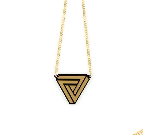 Street style acrylic New hot simple punk  triangle necklace &amp; pendant for women <br><br>Aliexpress