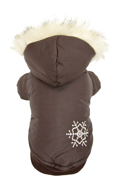 Wholesale New coffee snow bristles sided coat for dog Free shipping dogs dress costumes