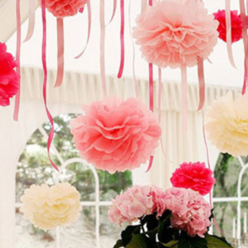 13 colors creative korean large paper flowers ball trumpet for Hand work decoration