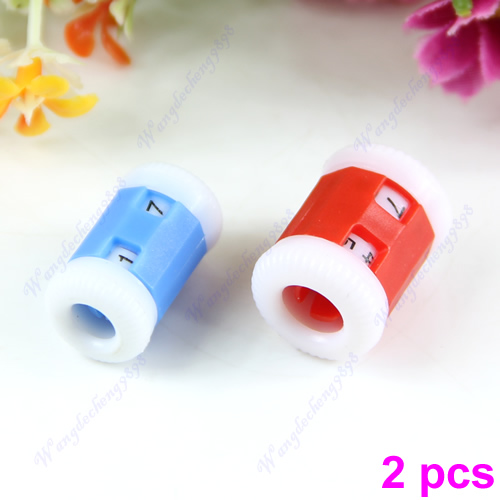 Hot 2pcs Plastic Pride Row Counter 2 Sizes Knit Knitting Needles New