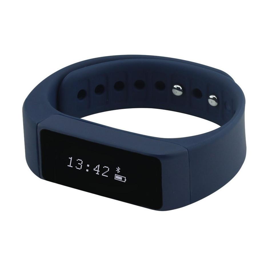 """ถูก 2016 IP67 waterproof watches 0.91"""" OLED TPU smartband fitness tracker clock Anti-lost function I5 smart watch"""