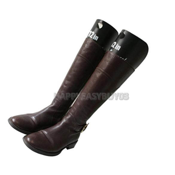 H3 2 Pcs Reelable Long Boots Shoes Stand Holder Support Stretcher Shaper Plastic free shipping(China (Mainland))