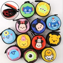 tsum Mickey Minnie poke mon go cartoon egg yolk Jun data cable headset bag storage box purse PU Small Bag(China (Mainland))