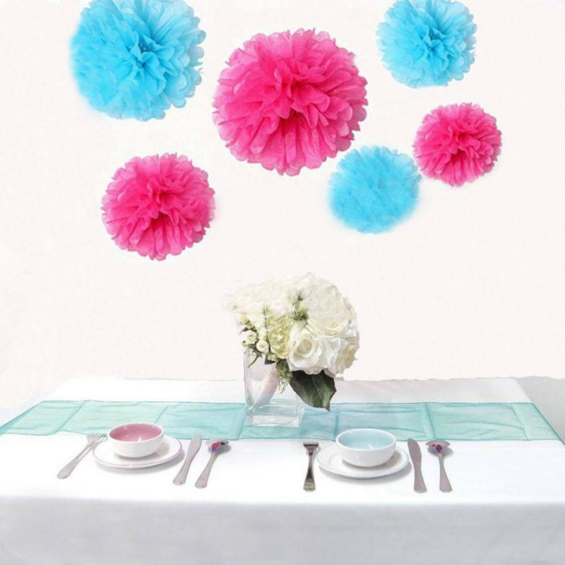 Sky Blue Tissue Paper Pom Poms Pompoms Paper Flower Balls Wedding