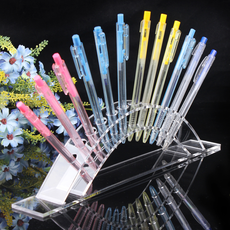 Clear Acrylic Pen Stand Display Pencil Holder Rack Jewelry Organizer For 6 Pcs Pen Lipstick Display Pen Box Pencil Case Shelf(China (Mainland))