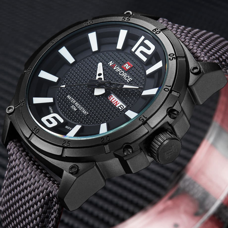 NAVIFORCE Top Brand Military Watches Men Fashion Casual Canvas Leather Sport Quartz Wristwatches Male Clock Relogio Masculino(China (Mainland))