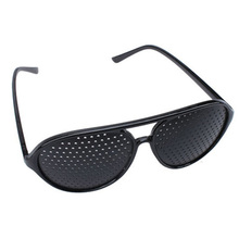 Vision Spectacles Eyesight Improve Pinhole Pin hole Eyes Training Exercise Glasses Eyewear ES88