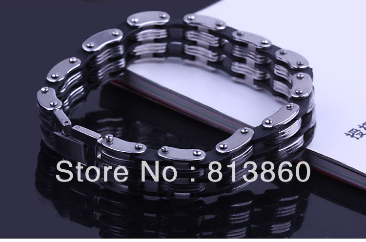 Titanium Steel And Silicone Rubber Bracelet,Good Christmas Gift Items(China (Mainland))