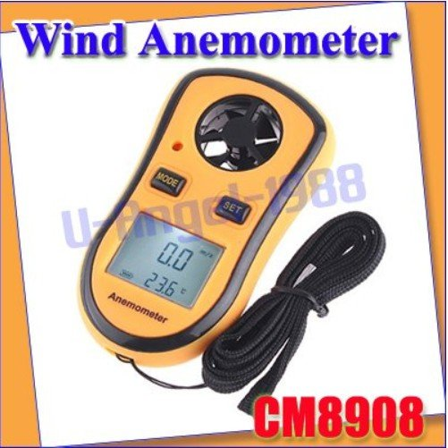 2pcs/lot Digital Pocket Anemometer Wind Speed Meter Thermometer  + Free shipping<br><br>Aliexpress
