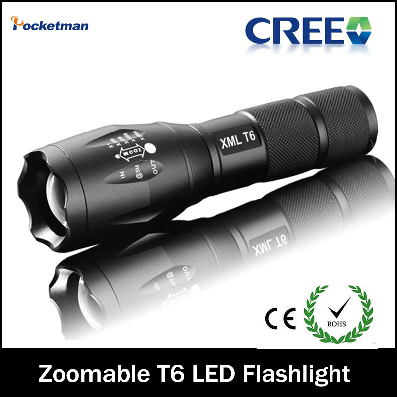E17 Hot Super Top Selling Style CREE XML T6 LED 2000LM LED Flashlight cree led flashlight Torch 5-Mode for AAA / 1x18650 battery(China (Mainland))