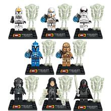 2016 Hot 16 pcs/lot Star Wars The Force Awakens movie Star War Kid Baby Toy Mini Figure Building Blocks Sets Minifigures Brick(China (Mainland))