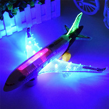Free Shipping Electric Airplane Toys Moving Flashing Lights SoundsDIY Assembly Aircraft(China (Mainland))