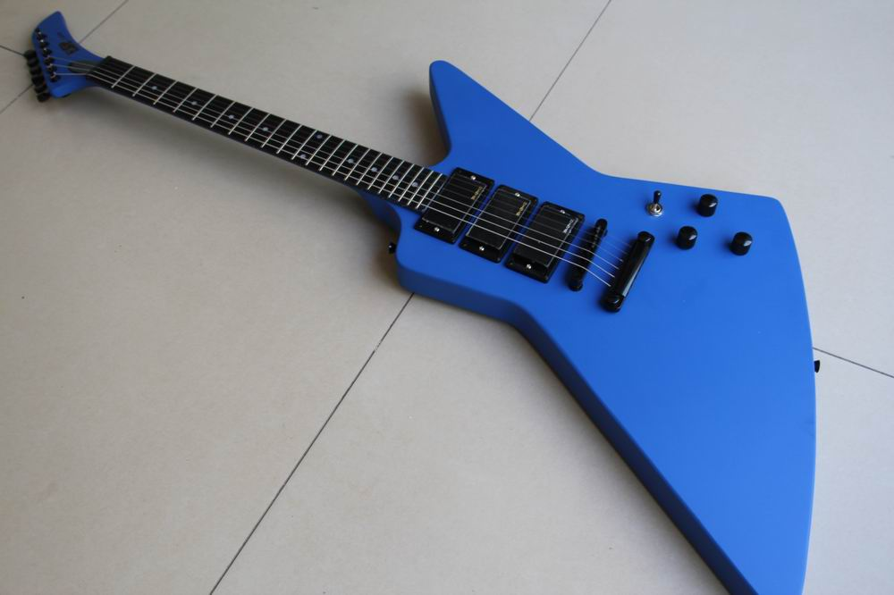 Free Shipping E$P Explorer Model electric guitar 3 Pick ups in Blue(China (Mainland))