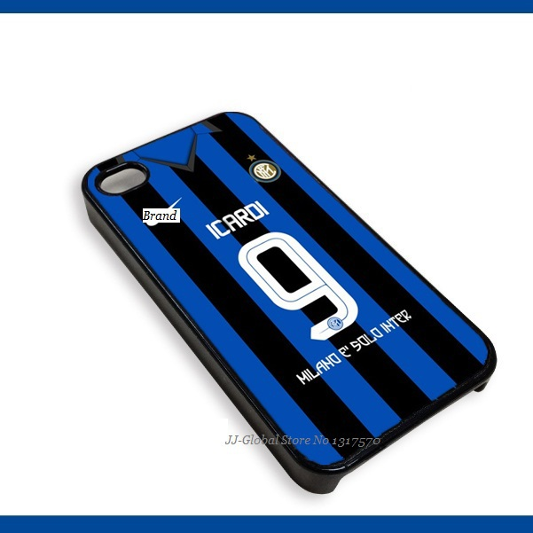Inter Milan Silicon Cellphone Cases with the patterns of Home Jersey Serie A 15-16 New Season cover for Apple iPhone 5S 6 plus(China (Mainland))