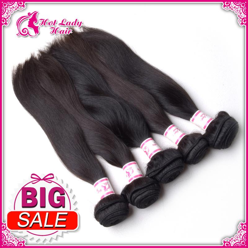Grade AAAAA Cheap Virgin Brazilian Straight Hair Raw Brazilian 4 Virgin Hair Straight Bundle Human Hair Extension(China (Mainland))