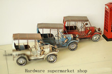 Handmade Vintage wrought iron tin ornaments creative Home Furnishing vintage car decoration(China (Mainland))
