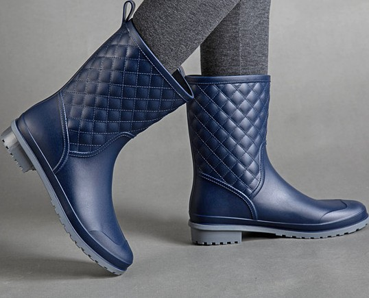 Hight Quality Waterproof Rubber Rainboots 2016 Women Fashion High Galoshes Woman Low Heels Rain Boots Water Shoes Mujer Botas