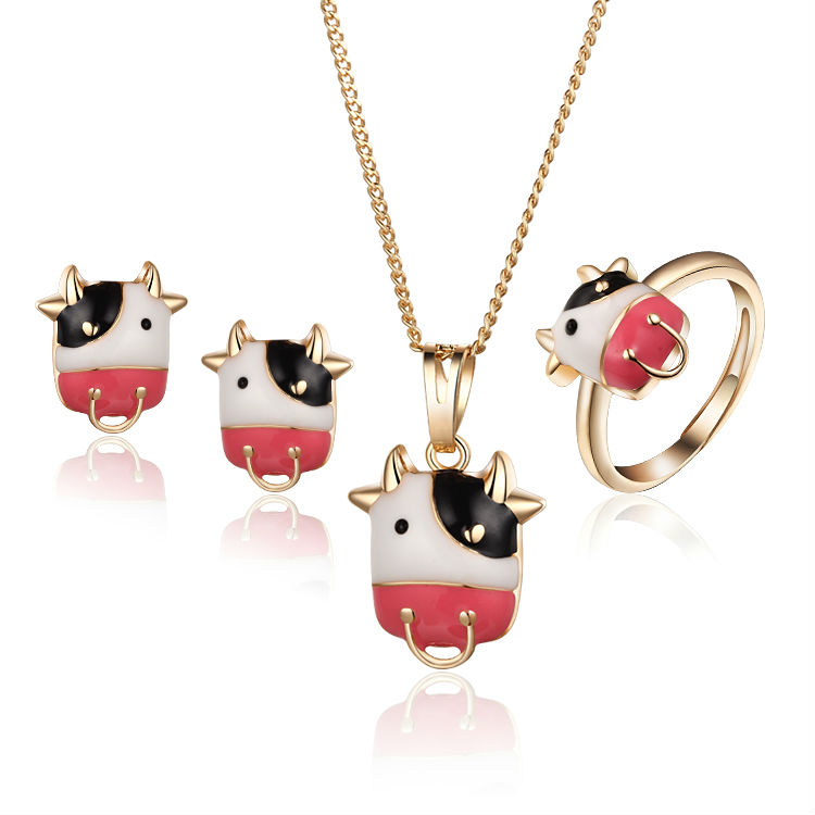 2016 18K Gold Plated Bird Baby Children Jewelry Sets Earrings Rings Pendant Necklace For Baby Jewellery 7S18K-53(China (Mainland))