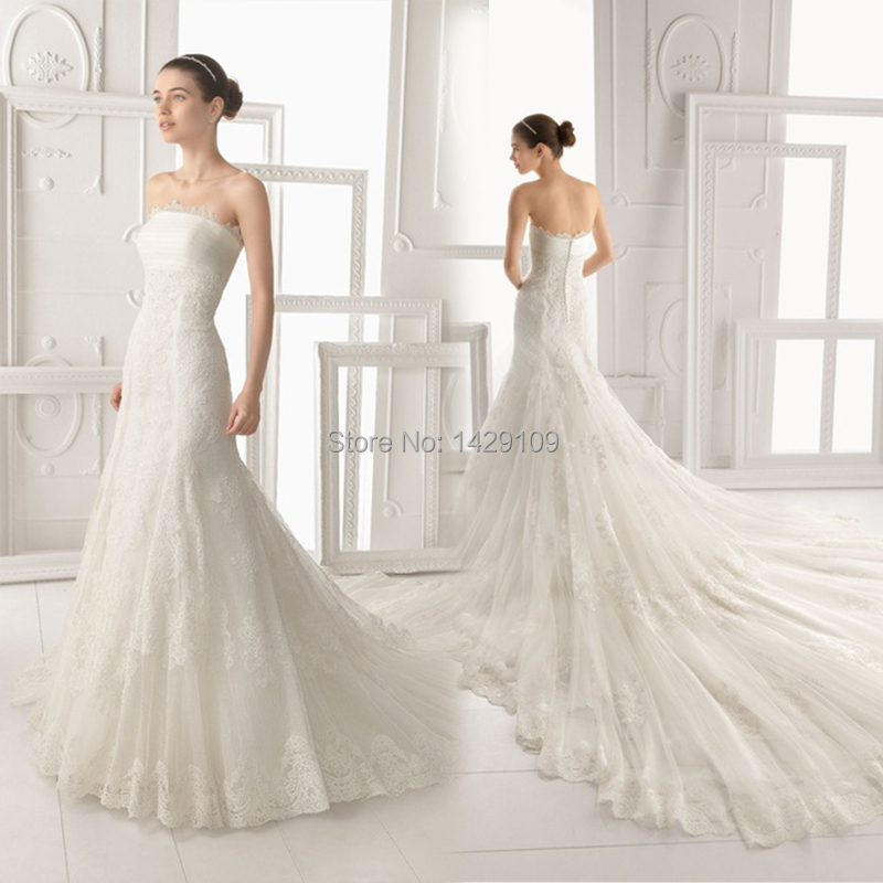 Buy custom made appliques strapless for Have wedding dress made