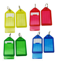 """Wholesale Freeshipping Key Fobs Luggage ID Tags with Key Ring 2.9"""" X1.5"""" Transparent Mixed Color Pack of 50(China (Mainland))"""