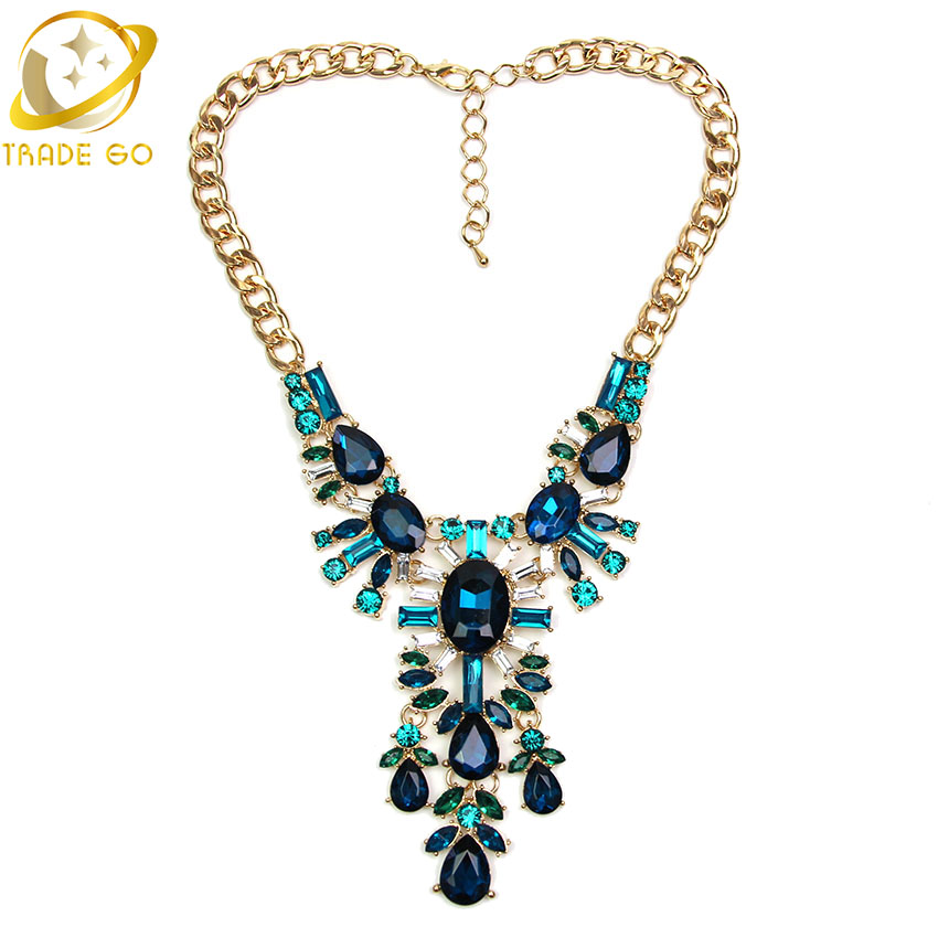2 Colors Choice Shining Precious Women Accessories Statement Necklace & Pendants Gorgeous Luxury Charm Crystal Fashion - Left Hand Right Jewelry Shop store